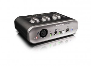 The entry-level audio interface M-Audio Fast Track has both a headphone out for monitoring as well as line output
