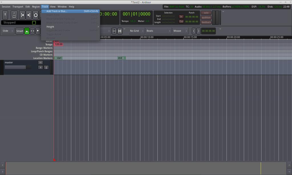 ardour-add-track